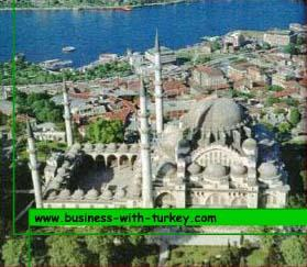 Aerial view of suleymaniye Mosque