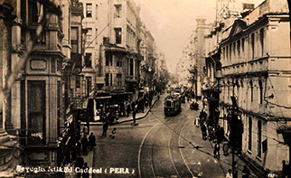 Istiklal Caddesi at old time..